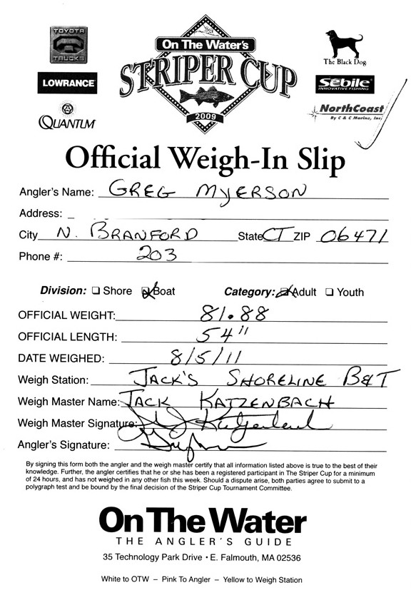 Submit a photo of your weighslip for faster leaderboard updates!