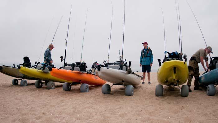 Hobie kayaks on the beach
