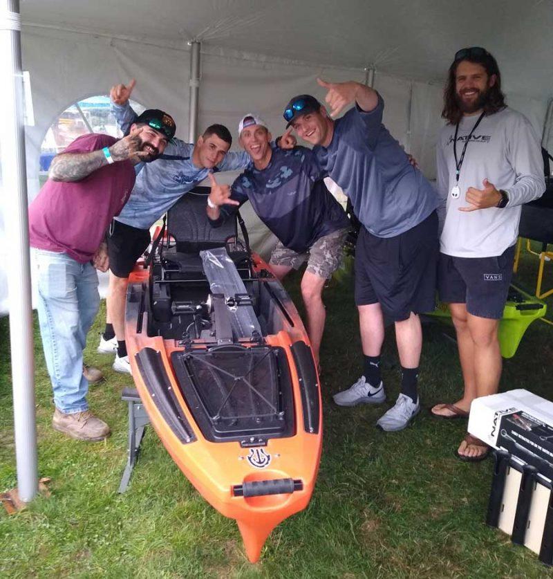 Native Kayak winner Ben Timme